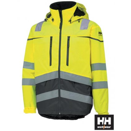 RAW HELLY HANSEN: Reflexná nepremokavá bunda HH-TONS-J YGF
