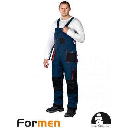 RAW L&H: Pracovné nohavice s náprsenkou LH-FMN-B GBC