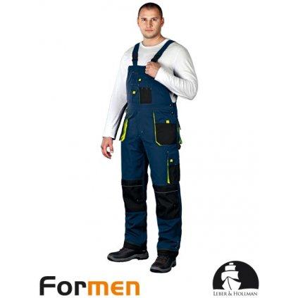 RAW L&H: Pracovné nohavice s náprsenkou LH-FMN-B GBY