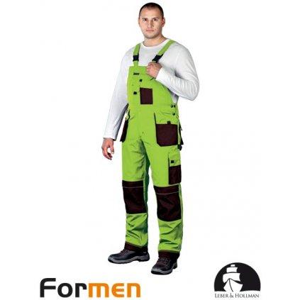 RAW L&H: Pracovné nohavice s náprsenkou LH-FMN-B LBR