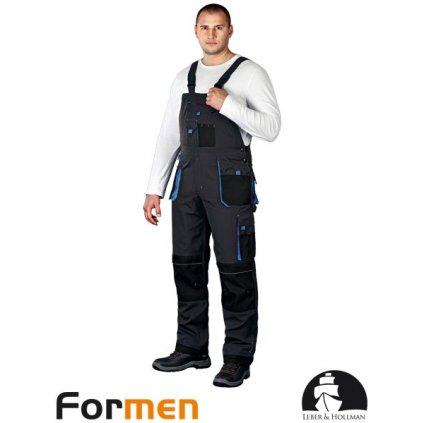 RAW L&H: Pracovné nohavice s náprsenkou LH-FMN-B SBN