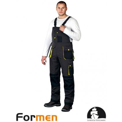 RAW L&H: Pracovné nohavice s náprsenkou LH-FMN-B SBY