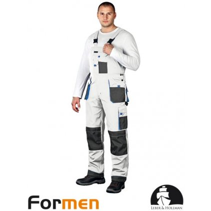 RAW L&H: Pracovné nohavice s náprsenkou LH-FMN-B WSN