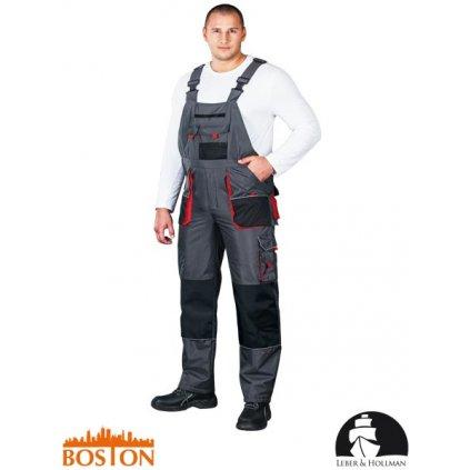RAW L&H: Zimné pracovné nohavice s náprsenkou LH-BSW-B SBC