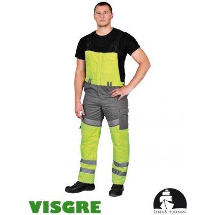 RAW L&H: Zimné reflexné nohavice s náprsenkou LH-TRANPER YS