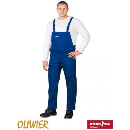 RAW OLIVIER: Pracovné nohavice s náprsenkou SO N