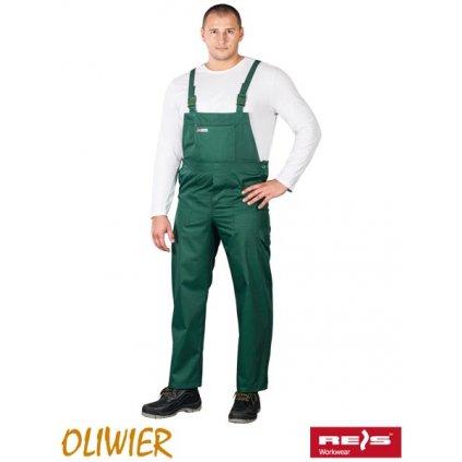 RAW OLIVIER: Pracovné nohavice s náprsenkou SO Z