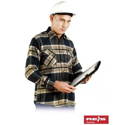 RAW REIS: Flanelová košeľa KFLUX N